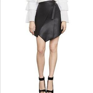 Bcbg Yulissa Pleather Faux-Wrap Skirt